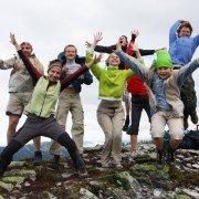 Jumping teenagers